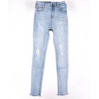 3599 New jeans американка голубая с царапками весенняя стрейчевая (25-30, 6 ед.) New Jeans: артикул 1102278