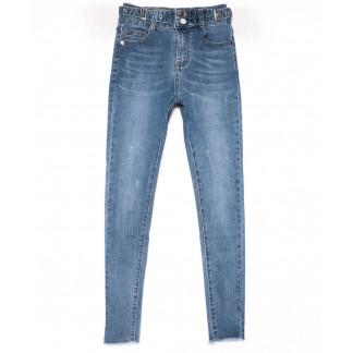 3613 New jeans американка синяя с царапками весенняя стрейчевая (25-30, 6 ед.) New Jeans: артикул 1102280