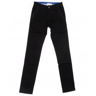 0716-34 New Feerars брюки мужские молодежные черные осенние стрейчевые (28-36, 8 ед.) New Feerars: артикул 1102379