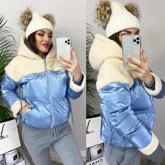 0627 голубая Ruixi куртка женская зимняя (M-XL. 3 ед.) Ruixi: артикул 1102399