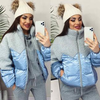 5901 голубая ManQi куртка женская зимняя (M-XL, 3 ед.) ManQi: артикул 1102425