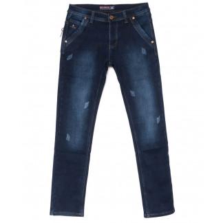 3710 Bigboss джинсы мужские синие молодежные с царапками на флисе зимние стрейчевые (27-34, 8 ед.) Bigboss: артикул 1102713
