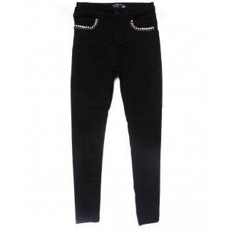 6047 Forgina джинсы женские зауженные черные весенние стрейчевые (26-31, 6 ед.) Forgina: артикул 1102942