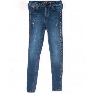 0132 777Plus джинсы женские зауженные синие весенние стрейчевые (34-42, 7 ед.) 777Plus: артикул 1102961