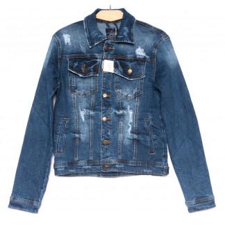 2210-1 Relucky куртка джинсовая женская синяя весенняя стрейчевая (S-ХХХL, 6 ед.) Relucky: артикул 1103015