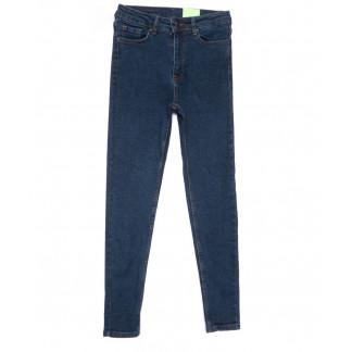 2177 X джинсы женские зауженные синие на байке зимние стрейчевые (34-42,евро, 8 ед.) X: артикул 1103173