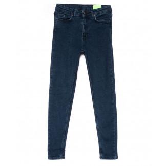 2157 X джинсы женские зауженные синие на байке зимние стрейчевые (34-42,евро, 8 ед.) X: артикул 1103175