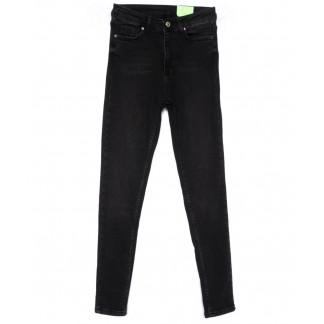 2183 X джинсы женские зауженные черные на байке зимние стрейчевые (34-42,евро, 8 ед.) X: артикул 1103177