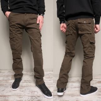 8813-2 коричневые Iteno брюки мужские карго цвета хаки осенние стрейчевые (30-38,6/12 ед.) Iteno: артикул 1102136