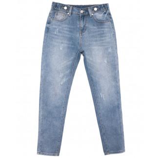3653 New jeans мом с царапками синий весенний коттоновый (25-30, 6 ед.) New Jeans: артикул 1103396