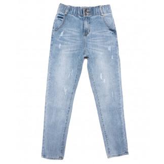 3629 New jeans мом с царапками синий весенний коттоновый (25-30, 6 ед.) New Jeans: артикул 1103400