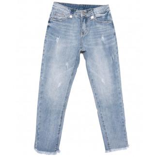 3633 New jeans мом с царапками синий весенний коттоновый (25-30, 6 ед.) New Jeans: артикул 1103403