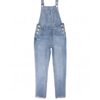 3652 New jeans комбинезон с царапками синий весенний коттоновый (XS-XXL, 6 ед.) New Jeans: артикул 1103415