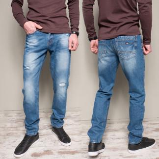 9902-3 R Relucky джинсы мужские с царапками синие весенние стрейчевые (29-38, 8 ед.) Relucky: артикул 1103204