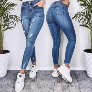 3570 New jeans американка синяя с царапками весенняя стрейчевая (25-30, 6 ед.) New Jeans: артикул 1102264