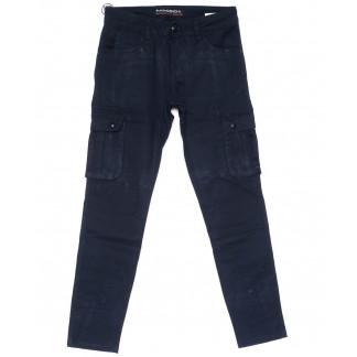 2118 Fangsida брюки мужские молодежные карго черные весенние стрейчевые (28-34, 8 ед.) Fangsida: артикул 1103691