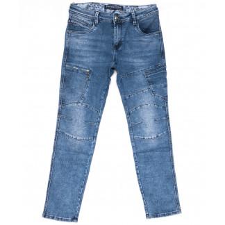 8338 Fangsida джинсы мужские молодежные синие весенние стрейчевые (28-36, 8 ед.) Fangsida: артикул 1103696