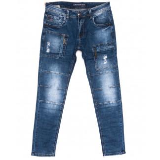 8337 Fangsida джинсы мужские молодежные синие весенние стрейчевые (28-36, 8 ед.) Fangsida: артикул 1103698