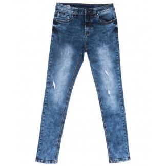 2043 New jeans джинсы мужские с царапками синие весенние стрейчевые (29-38, 8 ед.) New Jeans: артикул 1103709