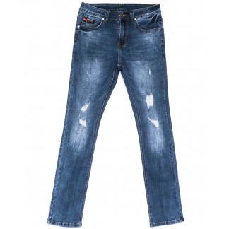 2042 New jeans джинсы мужские молодежные синие весенние стрейчевые (28-36, 8 ед.) New Jeans: артикул 1103710