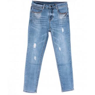 3683 New jeans американка полубатальная синяя весенняя стрейчевая (28-33, 6 ед.) New Jeans: артикул 1103722