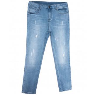 3684 New jeans американка батальная синяя весенняя стрейчевая (31-36, 6 ед.) New Jeans: артикул 1103724