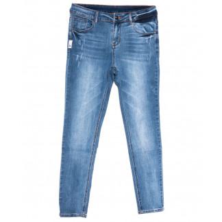 3686 New jeans американка полубатальная синяя весенняя стрейчевая (28-33, 6 ед.) New Jeans: артикул 1103726