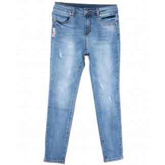 3685 New jeans американка полубатальная синяя весенняя стрейчевая (28-33, 6 ед.) New Jeans: артикул 1103727
