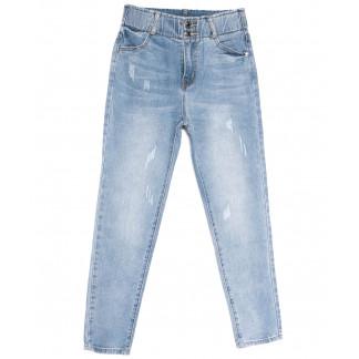 3671 New jeans мом с царапками синий весенний коттоновый (25-30, 6 ед.) New Jeans: артикул 1103729