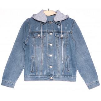 0811 New jeans куртка джинсовая женская синяя весенняя коттоновая (ХS-XXL, 6 ед.) New Jeans: артикул 1103737