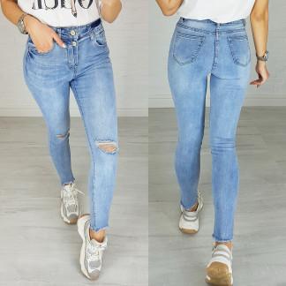 3625 New jeans джинсы женские зауженные голубые весенние стрейчевые (25-30, 6 ед.) New Jeans: артикул 1103386