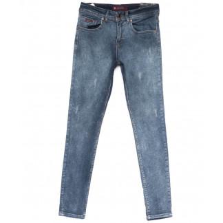 0672 Red Moon джинсы мужские с царапками синие весенние стрейчевые (29-36, 7 ед.) Red Moon: артикул 1103880