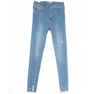 16050 Sasha джинсы женские зауженные синие весенние стрейчевые (26-31, 8 ед.) Sasha: артикул 1103927