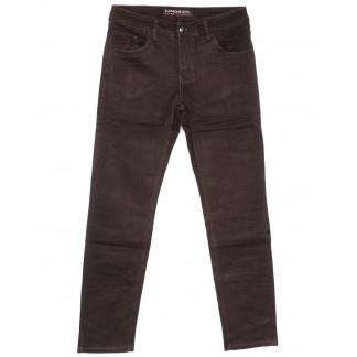 4046 Fangsida джинсы мужские полубатальные коричневые весенние стрейчевые (32-38, 8 ед.) Fangsida: артикул 1104037