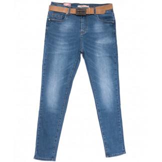 8066 M.Sara джинсы женские батальные синие весенние стрейчевые (31-42, 6 ед.) M.Sara: артикул 1104116