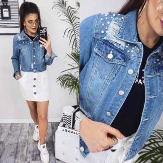 0803 New jeans куртка джинсовая женская синяя весенняя коттоновая (XS-XXL, 6 ед.) New Jeans: артикул 110341311