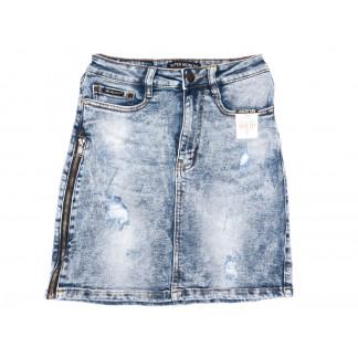 9911-1 V Relucky юбка джинсовая синяя весенняя стрейчевая (25-30, 6 ед.)  Relucky: артикул 1104332
