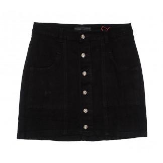 0412-3 V Relucky юбка джинсовая черная весенняя коттоновая (25-30, 6 ед.)  Relucky: артикул 1104338