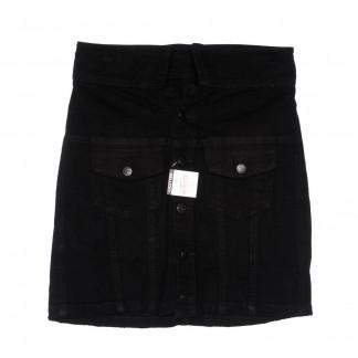 9915-5 V Relucky юбка джинсовая черная весенняя коттоновая (25-30, 6 ед.)  Relucky: артикул 1104339