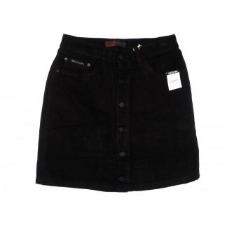 9911-5 V Relucky юбка джинсовая черная весенняя коттоновая (25-30, 6 ед.)  Relucky: артикул 1104341
