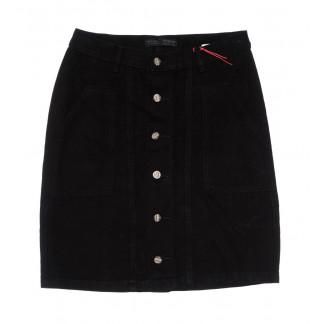 0415-3 V Relucky юбка джинсовая черная весенняя коттоновая (25-30, 6 ед.)  Relucky: артикул 1104342