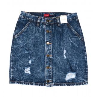9906-5 V Relucky юбка джинсовая синяя весенняя коттоновая (25-30, 6 ед.)  Relucky: артикул 1104343