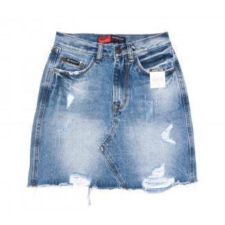9935-5 V Relucky юбка джинсовая синяя весенняя коттоновая (25-30, 6 ед.)  Relucky: артикул 1104344