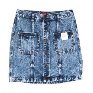 9903-5 V Relucky юбка джинсовая синяя весенняя коттоновая (25-30, 6 ед.)  Relucky: артикул 1104345