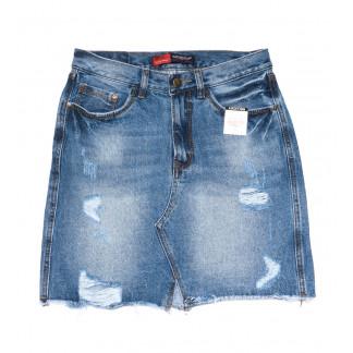 9939-2 V Relucky юбка джинсовая полубатальная синяя весенняя коттоновая (28-33, 6 ед.)  Relucky: артикул 1104346