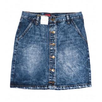 9907-5 V Relucky юбка джинсовая синяя весенняя коттоновая (25-30, 6 ед.)  Relucky: артикул 1104347