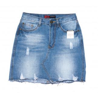 9934-2 V Relucky юбка джинсовая синяя весенняя коттоновая (25-30, 6 ед.)  Relucky: артикул 1104348