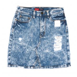 9909-5 V Relucky юбка джинсовая синяя весенняя коттоновая (25-30, 6 ед.)  Relucky: артикул 1104349