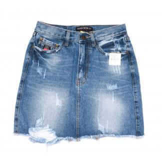 9933-2 V Relucky юбка джинсовая синяя весенняя коттоновая (25-30, 6 ед.)  Relucky: артикул 1104350