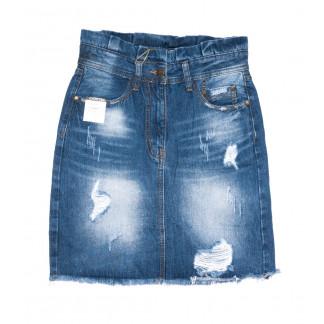 9908-5 V Relucky юбка джинсовая синяя весенняя коттоновая (25-30, 6 ед.)  Relucky: артикул 1104351
